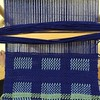Doubleweave, exchanging layers, on a rigid heddle loom. My sample for the class I'm teaching on Saturday.