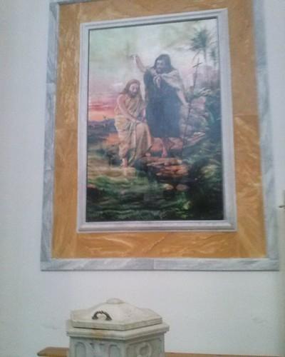 #chiesa dell'assunta di SanBenedettodei marsi #quadro #battesimo di #Cristo