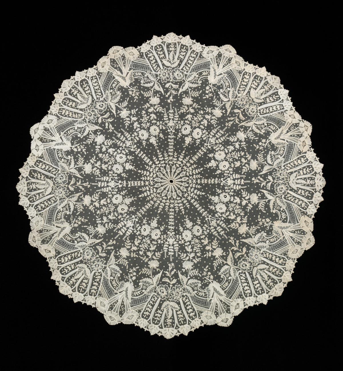 c. 1885. Belgian Net Lace Parasol