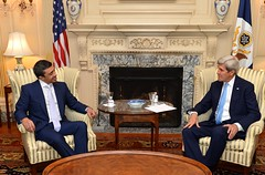 U.S. Secretary of State John Kerry meets with United Arab Emirates Foreign Minister Abdullah bin Zayed on July 29, 2016 at the U.S. Department of State in Washington, D.C. [State Department Photo/ Public Domain]