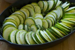 courgette-onion gratin