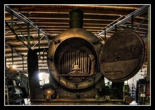 Berlin - Deutsches Technikmuseum Berlin - Dampflokomotivkessel