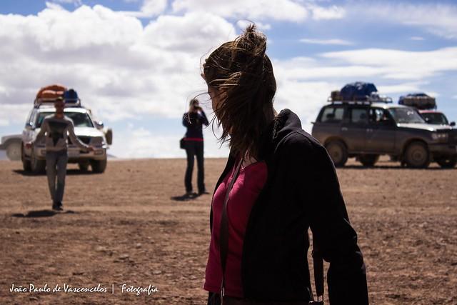 Viajando pelo deserto boliviano