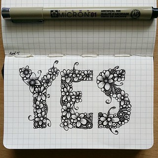 Moleskine drawing - YES