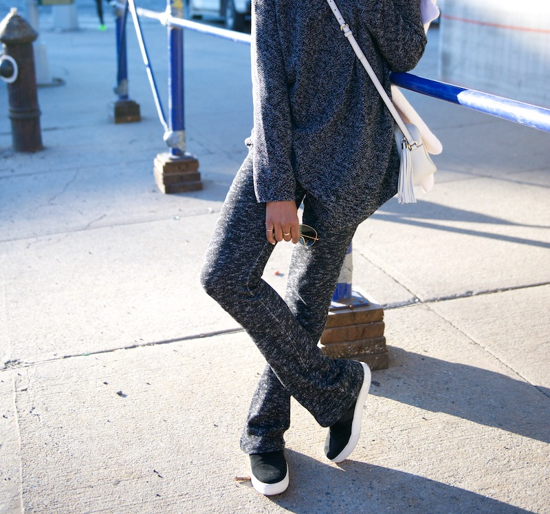 knit flare pants