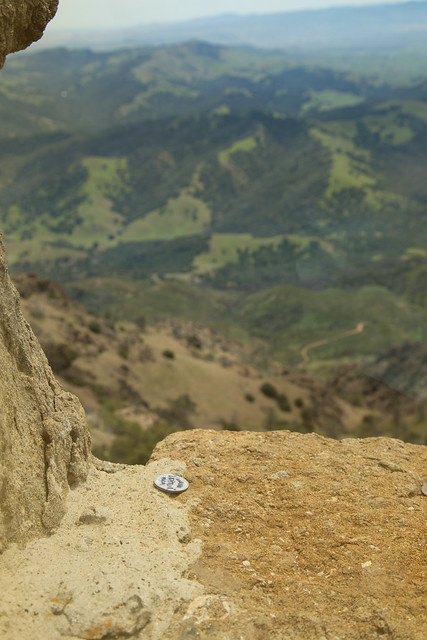 Making a wish - Coins at the top of Mount Diablo