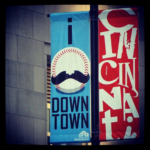 Downtown Cincinnati. We love it.