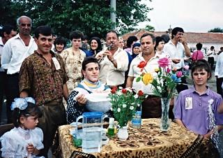 Bridegroom ready for the ritual shave, Polyanovo