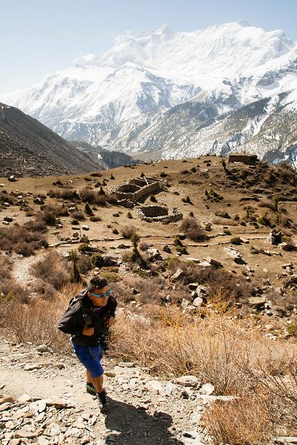Hiking to the monastery