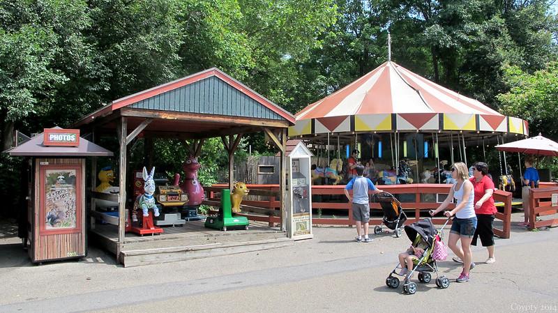 Carousel and kiddie rides