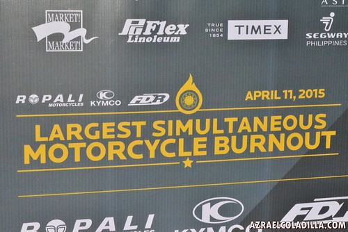 Guinness Record for the largest gathering of motorcyle burnout in Tagaytay City