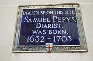 Immagine di Samuel Pepys. plaque 1632 samuelpepys salisburycourt diarist