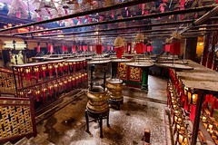Interior view of ManMo temple in Hong Kong • • • • • #travel #hongkong #artofvisuals #athomeintheworld #awesome_earthpix #awesome_photographers #awesomeearth #awesomeglobe #TLPicks #bestplacestogo #discoverglobe #earthfocus #earthpix #exploretocreate #fan