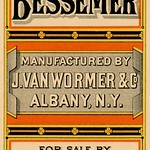 Sat, 2018-07-21 11:05 - 'The Bessemer. Manufactured by J. Van Wormer & Co., Albany, N.Y. For sale by W. A. Tritle, Waynesboro, Pa. Mayer, Merkel & Ottmann, Lith., 21-25 Warren St., N.Y.'  A trade card or leaflet cover for The Bessemer, a cook stove.
