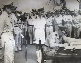 Leonard Monk Isitt signing Japanese Instrument of Surrender, September 2 1945