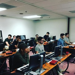 Students learning about Pro Tools in our Studio E! #school #omega #audioengineer #protools