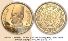 Metcalfe King Farouk coin