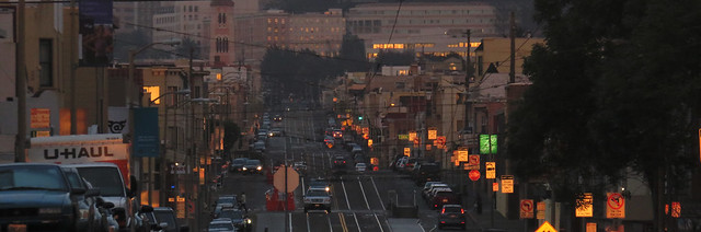 Judah St; the Sunset, San Francisco. March 24, 2015