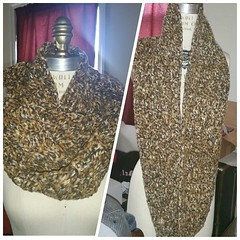 #justfinished cheetah print #crochet infinity scarf. #instacrochet #icrochet #shopsmall
