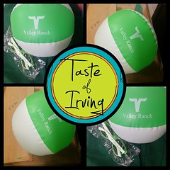 Come to the Taste of Irving in three days and visit the #ValleyRanchBooth. Play to win your very own Valley Ranch #BeachBall! #VRSummerSwag
