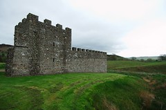 reconstructed turret and wall at Vindolanda
