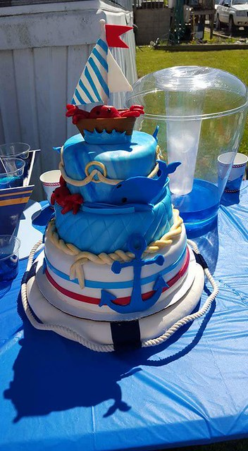 Blue Pirate Cake by Misty Boggs of Simply Sweet Cupcakes
