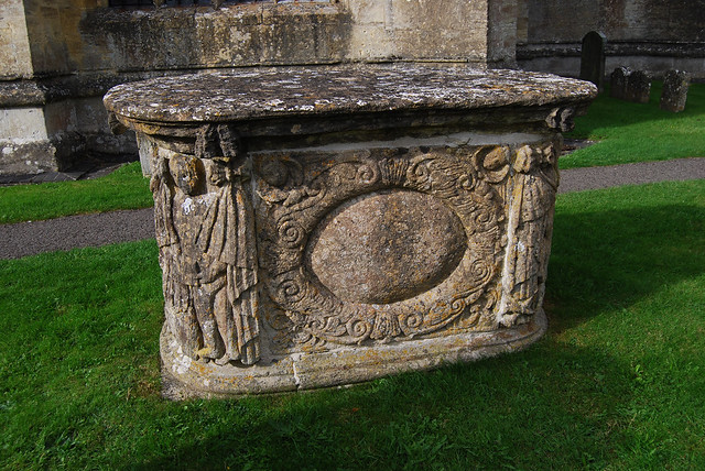 Ancient tomb at St Peter and St Paul Church, Northleach, Gloucestershire, England