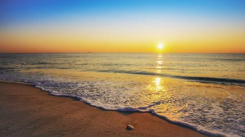 ocean beach sunrise newjersey bright sony scenic nj peaceful sunny shore seashell sandyhook sunstar nex5t