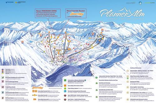Planneralm - mapa sjezdovek