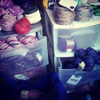My name is Nichole and I'm a yarn addict... Trying to organize my #yarnstash and get it out of the living room. This is going to take awhile... This might be 5%... Maybe. #knitterproblems #knitstagram #getyourkniton