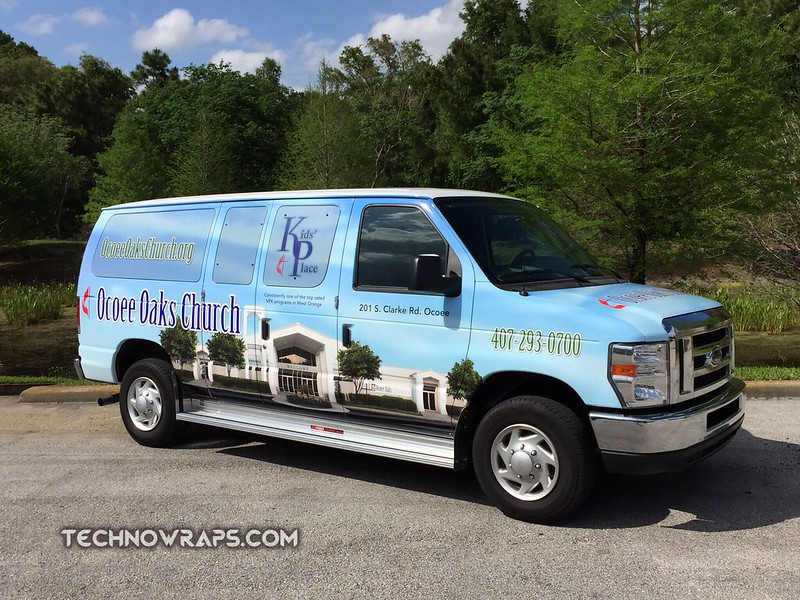 Church van graphics wrap by TechnoSigns