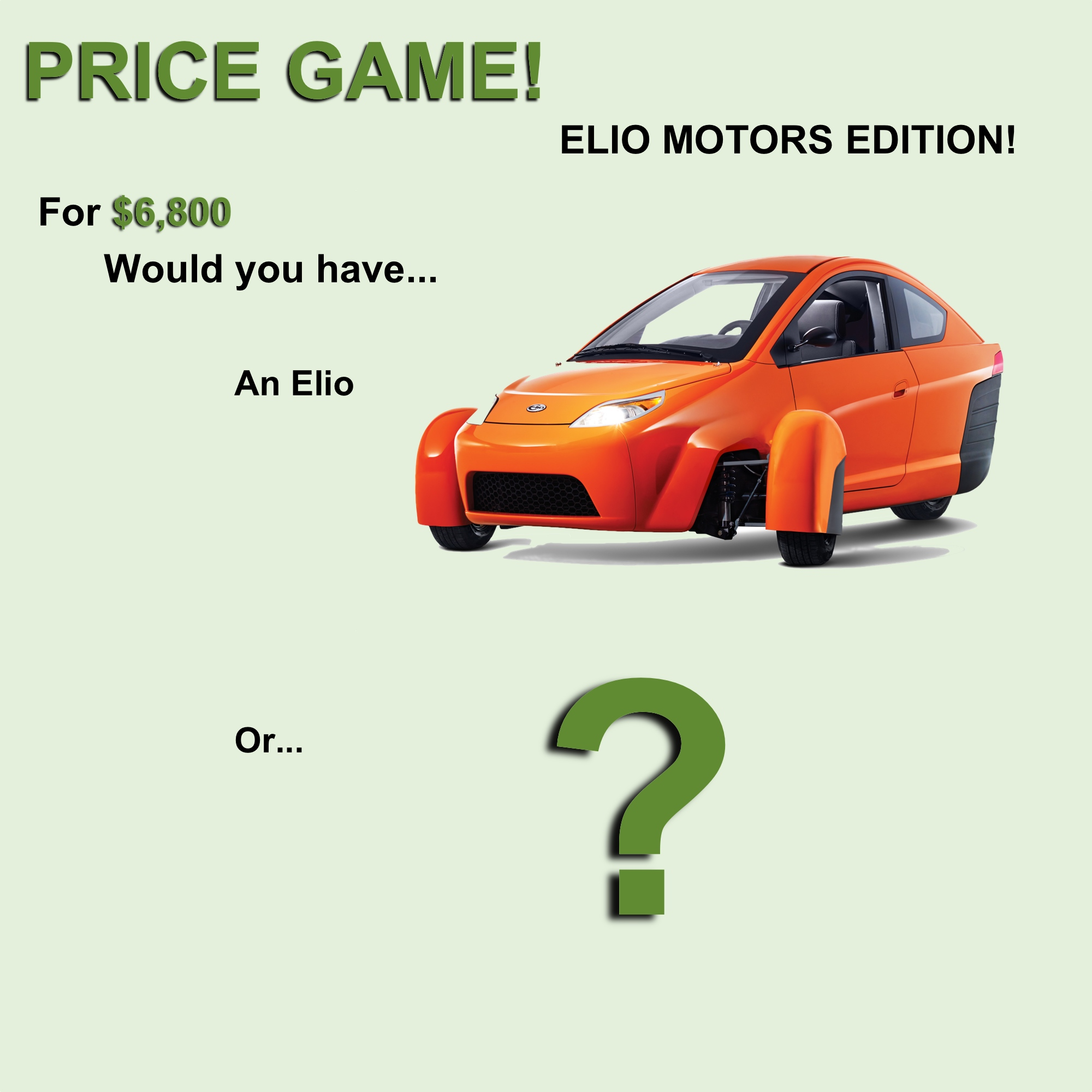 Elio Motors Price Game
