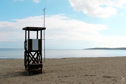 Lifeguard tower.