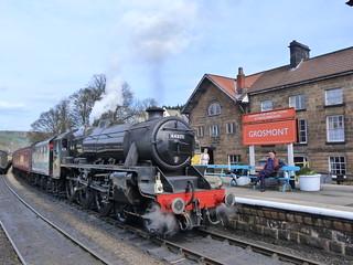Tren de vapor en Grosmont