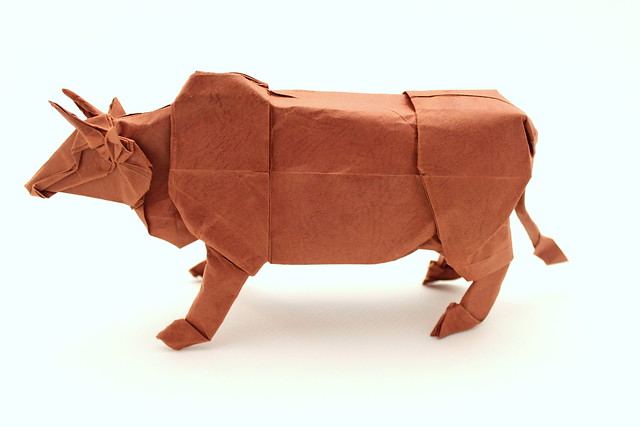 Cattle Designed By Satoshi Kamiya Folded Me Damian Malicki Origami On Flickr