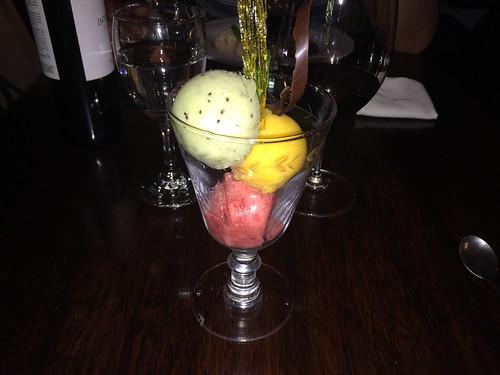 Cusco: sorbets faits maison (kiwi, melon et fraise)
