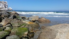 It's the picture I took in color first. #googlephoto #morrobaycalifornia #morrobaybeach