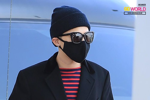Big Bang - Incheon Airport - 01apr2015 - G-Dragon - GD World - 02