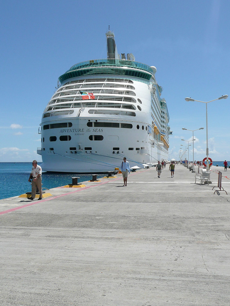 Adventure of the Seas docked in St. Maarten