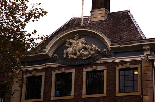 Breda, Noord-Brabant, Grote markt, vleeshal, detail