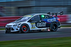 Marc Cars Australia Ford Focus V8 during the Dunlop 24 Hour race at Silverstone UK.