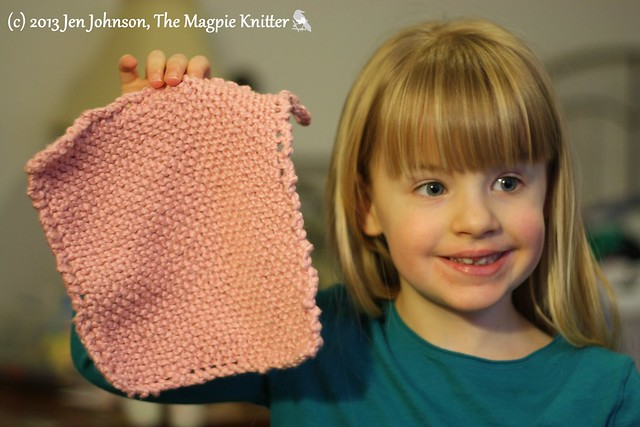 Lexie's pink washcloth