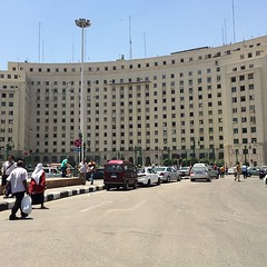 El-Mogamma in the heart of #Tahrir square after the new paint #Egypt #downtowncairo