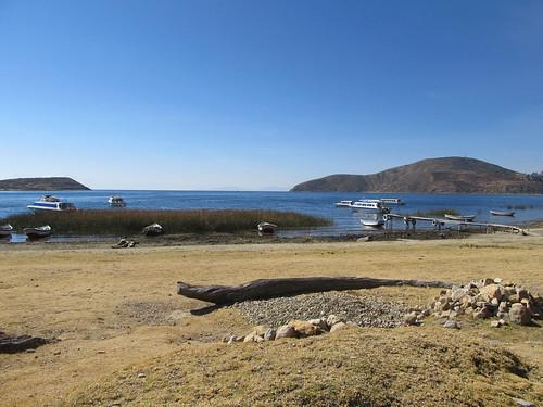 Lac Titicaca: arrivée à la partie nord de l'Isla del Sol