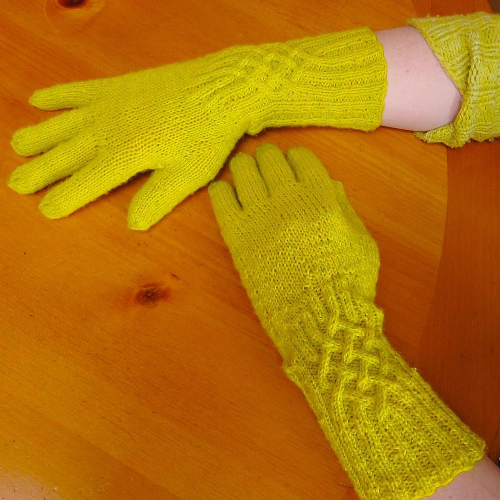 Chartreuse Knotty Gloves