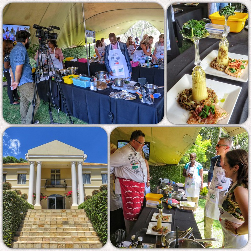 Montage of cooking demonstration