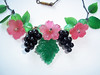 Vintage Lucite Fruit and Flower Necklace