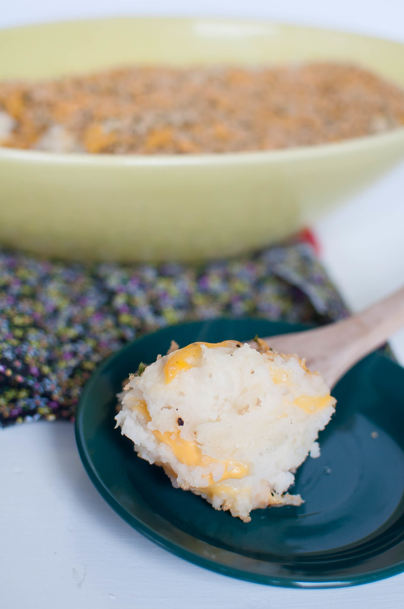 Baked Cheddar Mashed Potatoes 7