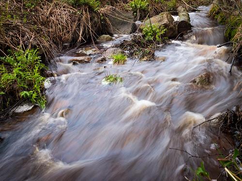 nature water finland evening spring log rocks stream may raahe ylipää lasikangas