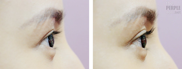 Before and After L'Oreal Miss Manga Mascara on Asian Lashes